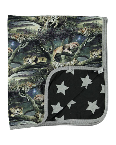 Nile Sleeping Animal Blanket, Multicolor
