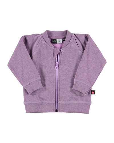 Donna Zip-Front Sweatshirt, Purple, Size 12M-2