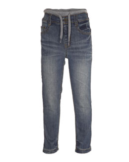 August Drawstring Jeans, Heavy Blast, Size 4-10