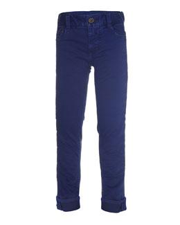 Amadeus Slim-Fit Stretch Jeans, Blue, Size 4-14