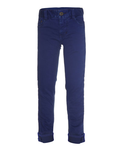 Amadeus Slim-Fit Stretch Jeans, Blue, Size 4-14