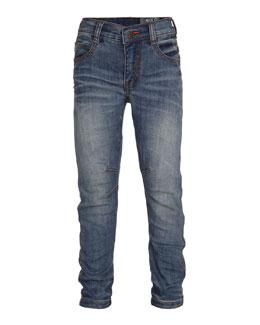 Alonso Slim-Fit Denim Jeans, Heavy Blast, Size 4-14