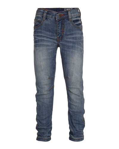 Alonso Slim-Fit Denim Jeans, Heavy Blast, Size 4-14