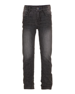 Alonso Slim-Fit Denim Jeans, Gray Washed, Size 4-14