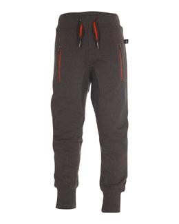Ashton Zip-Pocket Track Pants, Gray, Size 4-14