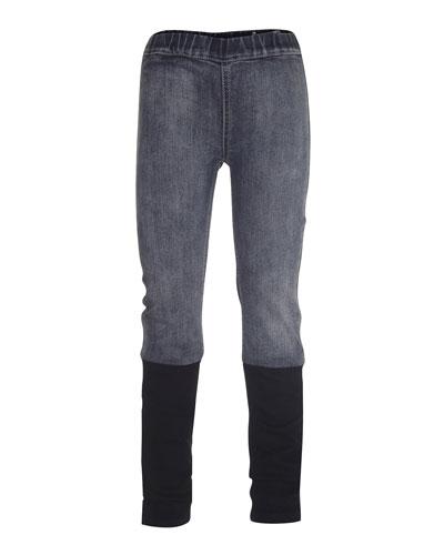 April Skinny Combo Leggings, Block Denim, Size 4-14