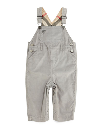 Wilba Corduroy Cotton Overalls, Medium Gray, Size 3M-3Y