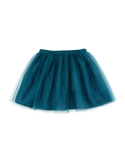 Tulle A-Line Skirt, Green, Size 2-4