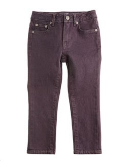 Slim-Fit Stretch Jeans, Carbon Gray, Size 2-7