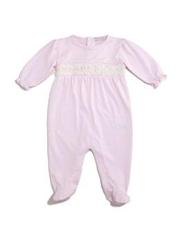 Winter Roses Pima Footie Pajamas, Pink, Size 0-9 Months
