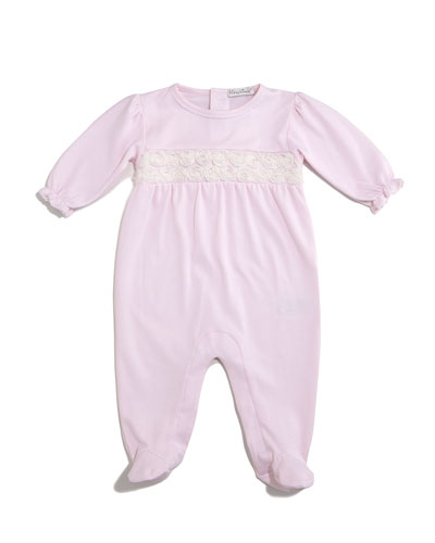Winter Roses Pima Footie Pajamas, Pink, Size 0-9 Months