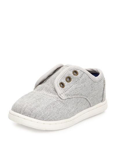 Chambray Paseo Slip-On Shoe, Light Gray, Tiny