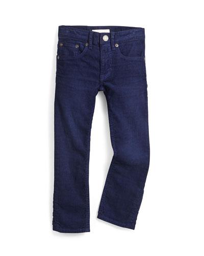 Skinny Corduroy Pants, Navy, Size 4Y-14Y