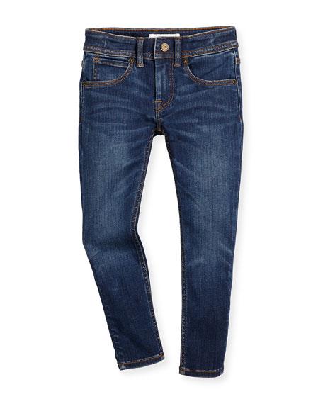 Burberry Faded Skinny Jeans, Medium Indigo, Size 4-14
