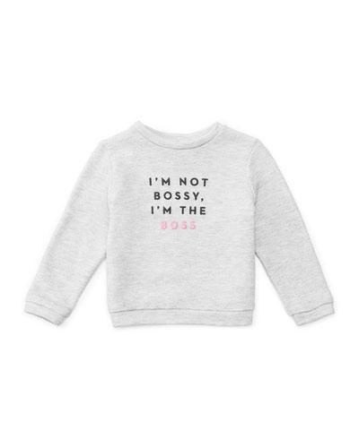 I'm Not Bossy Knit Sweatshirt, Gray, Size 4-7