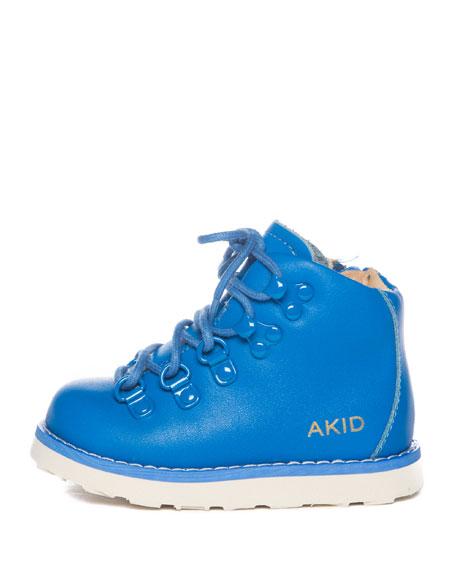 Brand New AKID Jasper Blue Leather Hi Top Boots size 3 and 4 available rrp £65