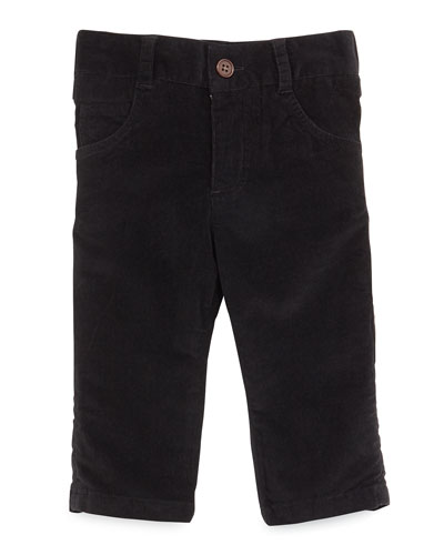 Cotton Corduroy Pants, Black, Size 2T-7Y