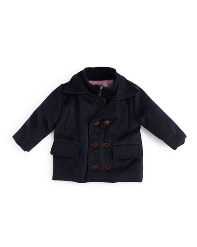 Double-Breasted Peacoat, Navy, Size 2T-7Y