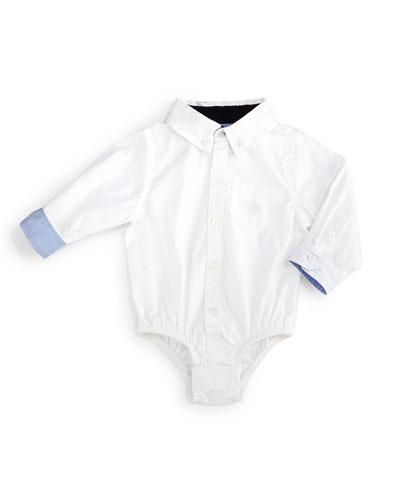 Long-Sleeve Oxford Shirtzie™, White, Size 6-24 Months