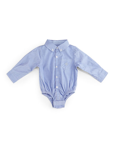 Long-Sleeve Chambray Shirtzie™, Blue, Size 6-24 Months