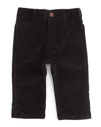 Cotton Corduroy Pants, Black, Size 6-24 Months