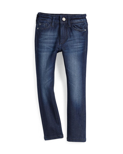Faded Chloe Skinny Activex Denim Jeans, Lima, Size 2-6