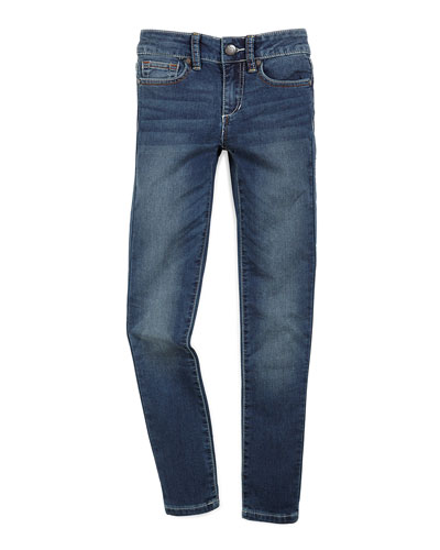 Beatrix Faded Skinny Jeans, Ever Blue, Size 2-6X