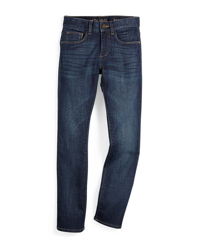 Brady Activex Slim-Fit Jeans, Ferret, Size 8-16