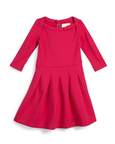 selma pleated fit-and-flare dress, sweetheart pink, size 7-14