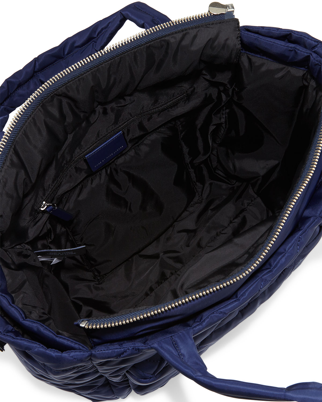 dd6d92174fe MARC by Marc Jacobs Crosby Quilt Eliz-a-Baby Nylon Diaper Bag, Navy    Neiman Marcus