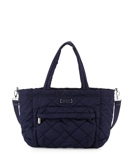 marc by marc jacobs crosby quilt eliz a baby nylon diaper bag navy. Black Bedroom Furniture Sets. Home Design Ideas