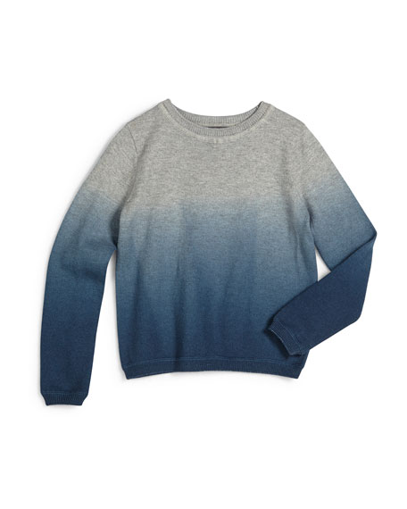 Vince Ombre Crewneck Sweater, Steel, Size 2-7