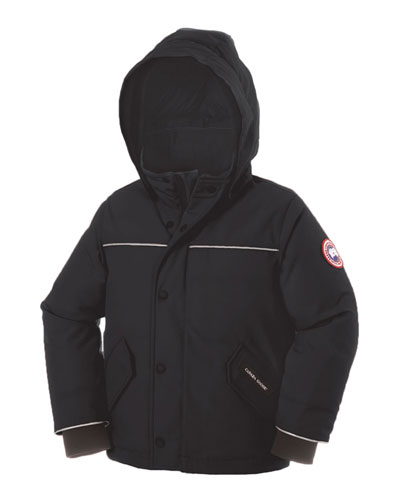 Snowbird Hooded Down Parka, Black, Size 2-5