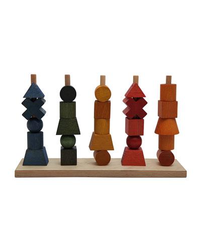 Wooden Rainbow Multi-Stack Block Set