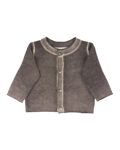 Cashmere Tie-Dye Sweater, Marl Gray, Size 12 Months
