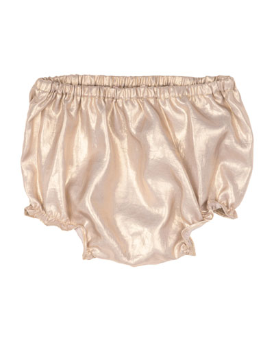 Metallic Bloomers, Gold, Size 18M-2