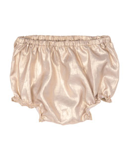 Metallic Bloomers, Gold, Size 12 Months