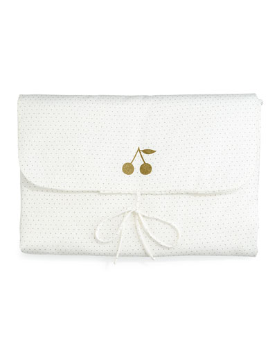 Polka-Dot Changing Pad, White
