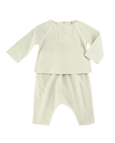 Long-Sleeve Raglan Top & Pants, Mint, Size 3-12 Months