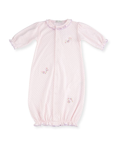 Lilac Blooms Pima Sleep Gown, Pink, Size Newborn-Small