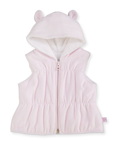 Cuddle Time Velour Pima Padded Vest, Pink, Size 3-18 Months