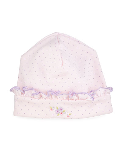 Lilac Blooms Pima Baby Hat, Pink