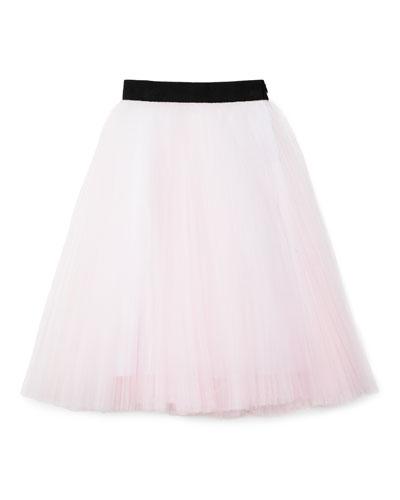 Tulle Tea-Length Skirt, Size 4-7
