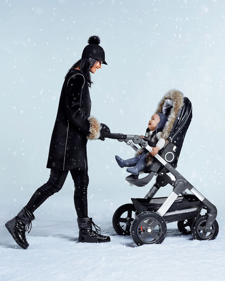 Fur-Trim Winter Kit, Black