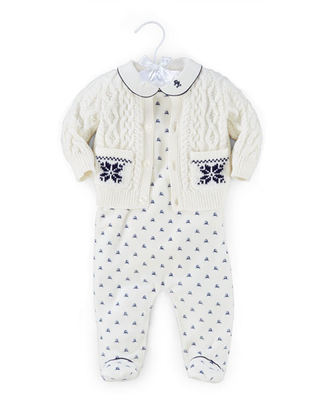 Ralph Lauren Childrenswear Printed Pima 3-Piece Set, Warm