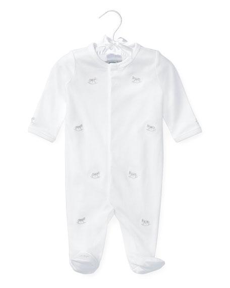 Ralph Lauren Childrenswear Rocking Horse Pima Footie Pajamas,