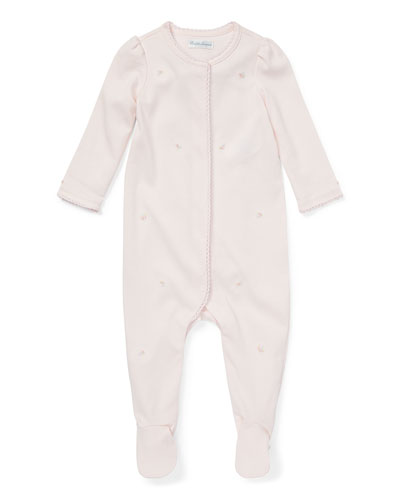 Floral Pima Coverall, Delicate Pink, Size 3-9 Months