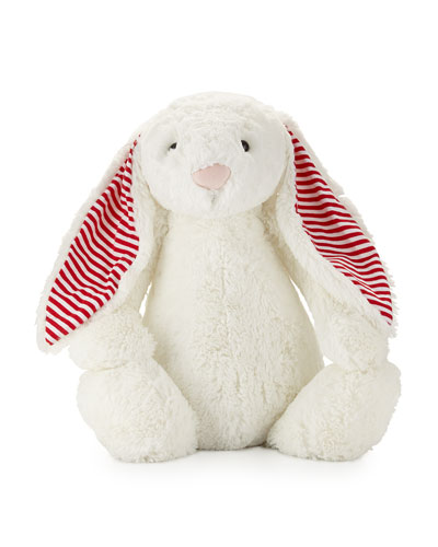 Huge Candy Stripe Bunny, White