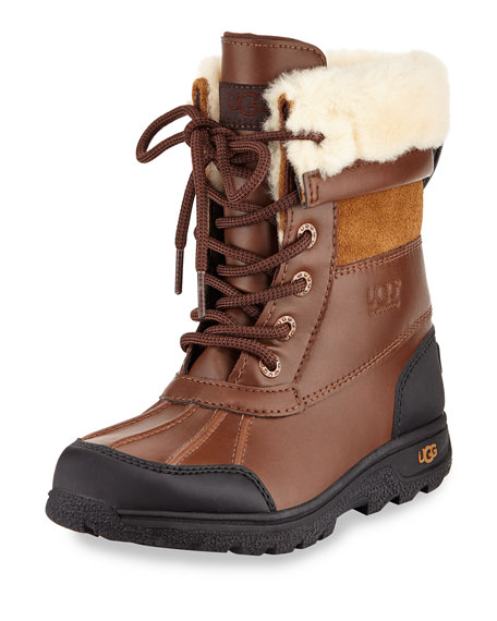 UGG Butte II Leather Hiking Boot, Worchester, Youth