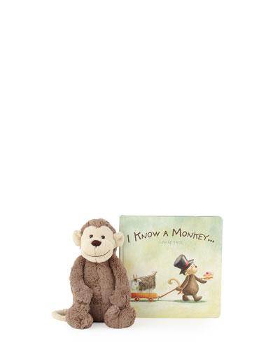 I Know A Monkey Gift Set